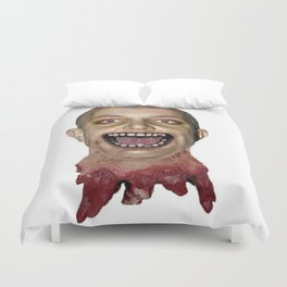 decapitated bald britney Duvet Cover