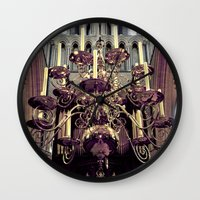 chandelier Wall Clocks featuring Chandelier  by Jonathan Wright Productions