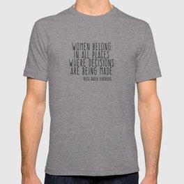 WOMEN BELONG IN ALL PLACES T-shirt