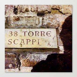 Torre Scappi Canvas Print