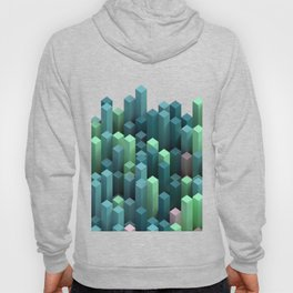 color cubic columns background Hoody