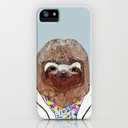 1980's Sloth iPhone Case