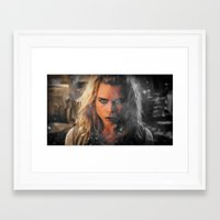 bad wolf Framed Art Prints featuring Bad Wolf by Taylor Bookout