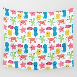 Cute Ocean Friends Wall Tapestry