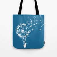 wind Tote Bags featuring Going where the wind blows by Picomodi