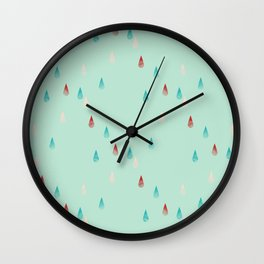 Raindrop Repeat Wall Clock