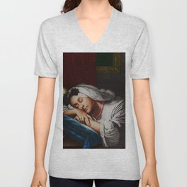 """""""Come Softly To Me"""" Portrait Painting by Jeanpaul Ferro Unisex V-Neck"""