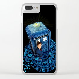 10th Doctor at arch of time zone T-Shirt Clear iPhone Case