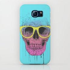 Pop art skull with glasses Slim Case Galaxy S7