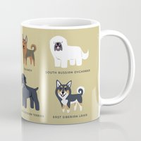 russian Mugs featuring RUSSIAN DOGS by DoggieDrawings