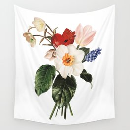 Spring Flowers Bouquet Wall Tapestry