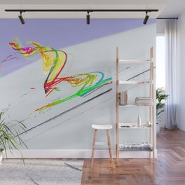 Skiing Wall Mural