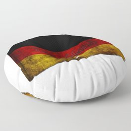 German Flag - Vintage... Floor Pillow