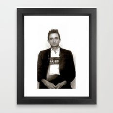 Johnny Cash Mugshot Framed Art Print