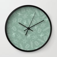bugs Wall Clocks featuring Bugs by emilia