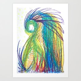 Psychic tea Art Print