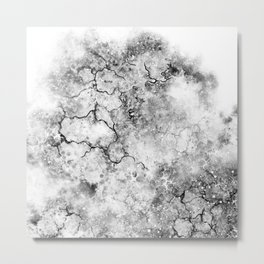 Resistance / abstract art / black and white Metal Print