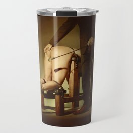 Nude Woman On the Whippingbench Travel Mug