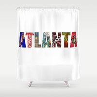 atlanta Shower Curtains featuring ATLANTA by Mental Activity