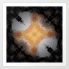 Water Rust Pattern 002 Art Print