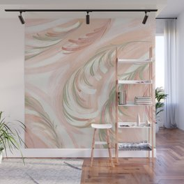 pastel coral swirl Wall Mural