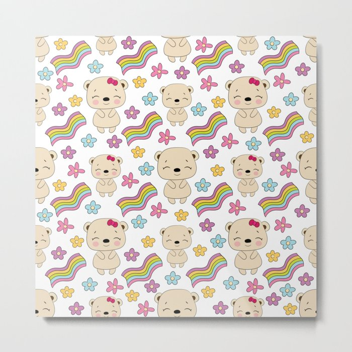 Cute bears Metal Print