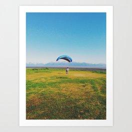 Para-sailing in Alaska Art Print