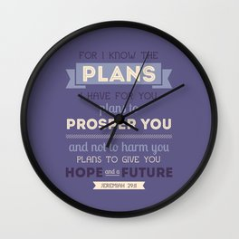For I Know the Plans Wall Clock