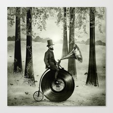 Music Man in the Forest, by Eric Fan and Viviana González Canvas Print