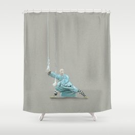 Paths to the waterfall - three - Tai Chi Shower Curtain