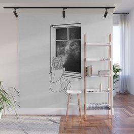Sometimes, it's better to be alone. Wall Mural