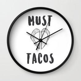 Must Love Tacos Wall Clock