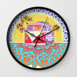 BusLife PopArt Poster Print Wall Clock