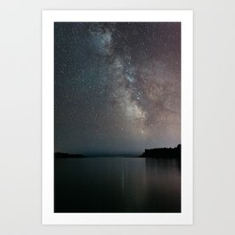 The Milky Way above Black Beach Minnesota | Nature and Landscape Photography Art Print
