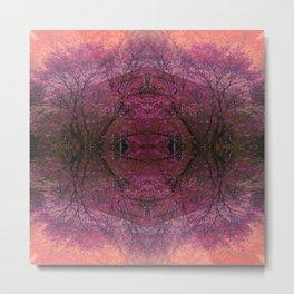 Rose Glass Metal Print