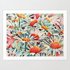 Sunshine Daisies Art Print