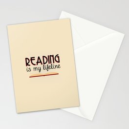 Reading is my lifeline Stationery Cards