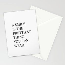 A Smile Is The Prettiest Thing You Can Wear Stationery Cards