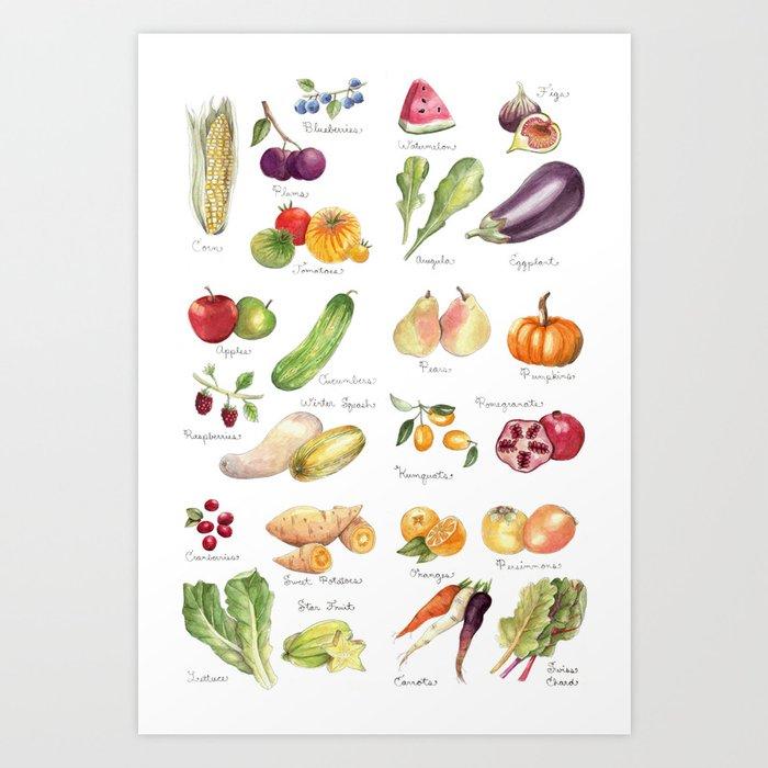 Calendar July-Dec Kunstdrucke