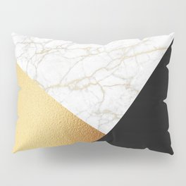 GOLDEN MARBLE TRIANGLE Pillow Sham
