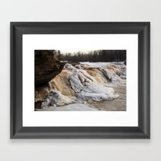 Wintry Bonanza Falls  Framed Art Print