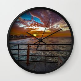 Just Stoked Wall Clock