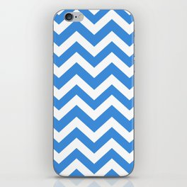 Tufts blue - blue color - Zigzag Chevron Pattern iPhone Skin