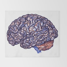 Brain Storming and tangled thoughts Throw Blanket