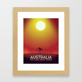 Australia travel poster. Framed Art Print