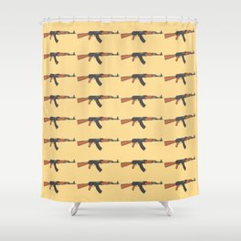 ak47 pattern logo Shower Curtain