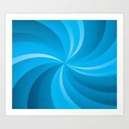 BLUE CURVES Abstract Art Art Print