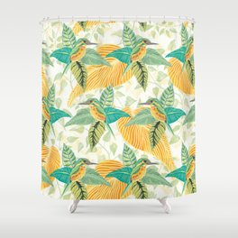 KINGFISHERS PARTY #2 Shower Curtain