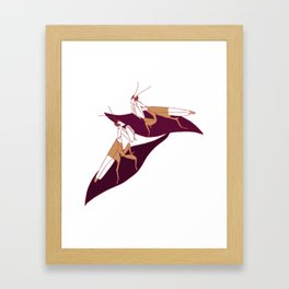 Orchid Mantids Framed Art Print