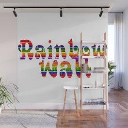Rainbow Wall Wall Mural